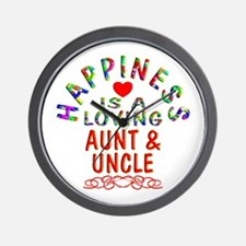 Aunt & Uncle Wall Clock