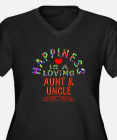 Aunt & Uncle Women's Plus Size V-Neck Dark T-Shirt