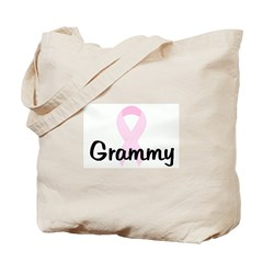 Grammy pink ribbon Tote Bag