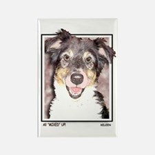 Mixed Breed Puppies Rectangle Magnet