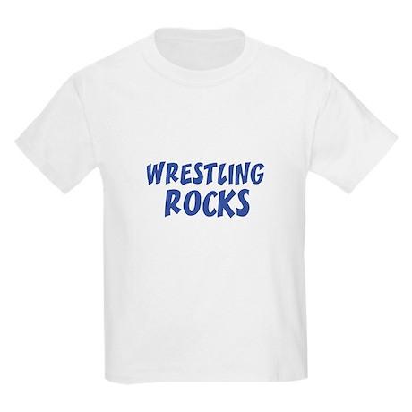 WRESTLING ROCKS Kids T-Shirt