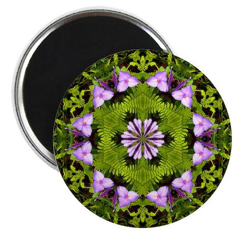 Spiderwort and Ferns Magnet