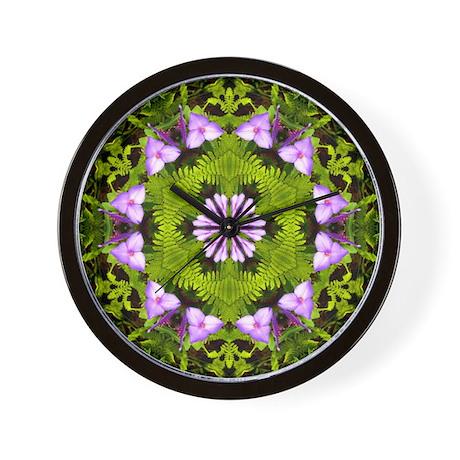 Spiderwort and Ferns Wall Clock