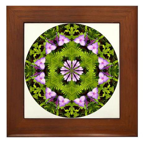 Spiderwort and Ferns Framed Tile