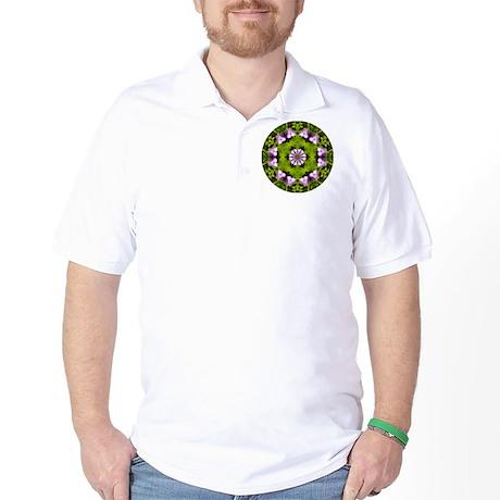Spiderwort and Ferns Golf Shirt