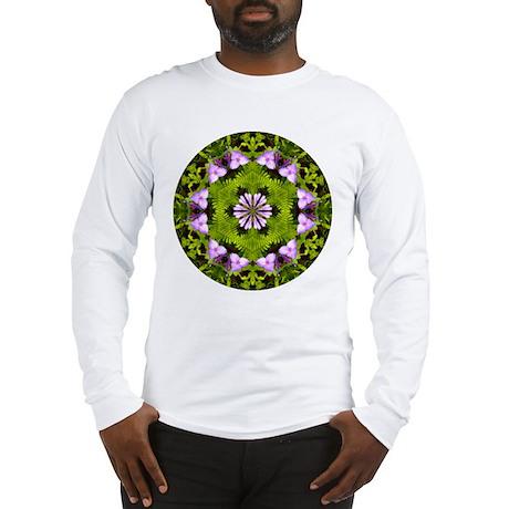 Spiderwort and Ferns Long Sleeve T-Shirt