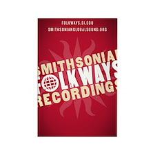 Folkways Recordings Rectangle Magnet