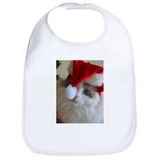 Ragdoll cat in Santa Hat Christmas Bib