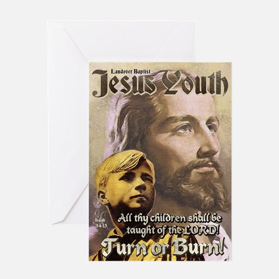 JESUS YOUTH Greeting Card