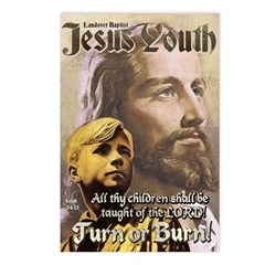JESUS YOUTH Postcards (Package of 8)