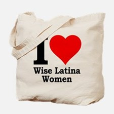 Heart Wise Latina Tote Bag
