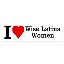Heart Wise Latina Bumper Bumper Sticker