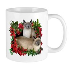 Siamese Cats in Berries Mug