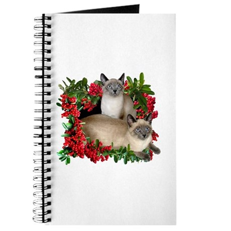 Siamese Cats in Berries Journal