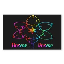 Flower Power Rectangle Decal