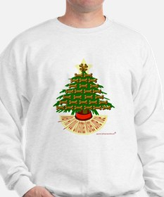 Doggy bone Christmas tree Sweatshirt
