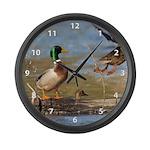 Mallard Flight Large Wall Clock