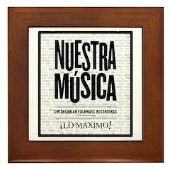 Nuestra Musica Framed Tile