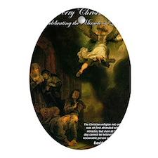 Renaissance Christmas Angel Oval Ornament