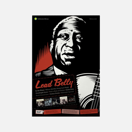 Lead Belly Rectangle Magnet
