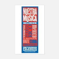 Nuestra Musica Rectangle Decal