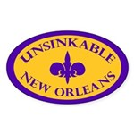 UNSINKABLE NEW ORLEANS Oval Sticker
