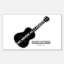 Woody Guthrie Rectangle Decal