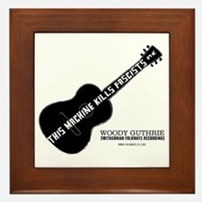 Woody Guthrie Framed Tile