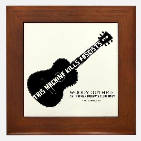 Woody Guthrie Framed Tile
