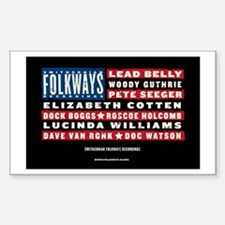 Folkways Artists Rectangle Decal