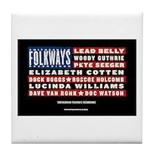 Folkways Artists Tile Coaster