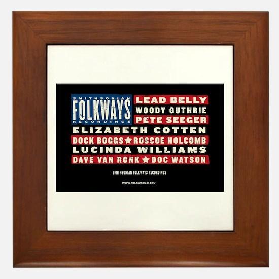 Folkways Artists Framed Tile