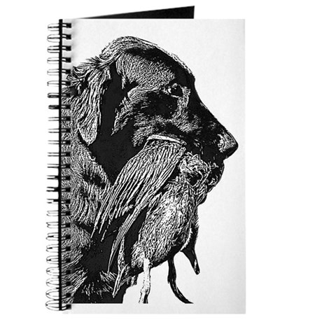 Flat-Coated Retriver with duck Journal