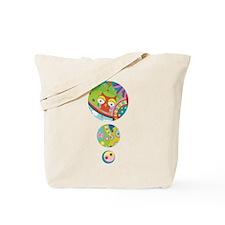 Owl, peace, love, ying yang Tote Bag