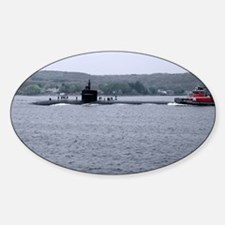Sub Going to Sea Oval Decal