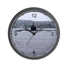 Sub Going to Sea Wall Clock