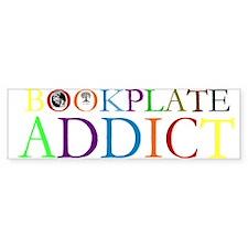 Bookplate Addict Bumper Bumper Sticker
