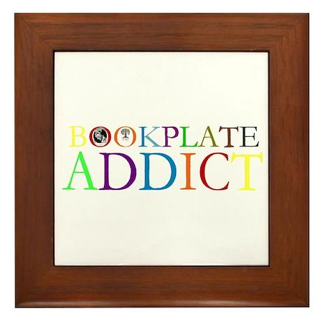 Bookplate Addict Framed Tile