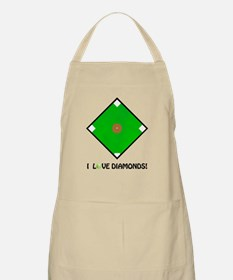 "Softball, ""I Love Diamonds!"" BBQ Apron"