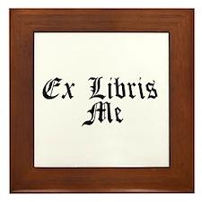 Ex Libris Me Framed Tile