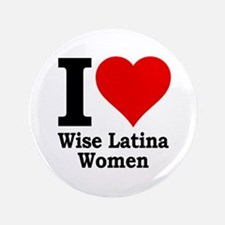 """Heart Wise Latina 3.5"""" Button"""