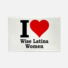 Heart Wise Latina Rectangle Magnet