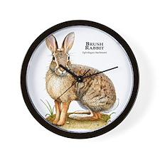 Brush Rabbit Wall Clock