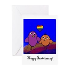 Anniversary Birds Greeting Card