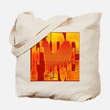 Chinese Fire Rooster Tote Bag