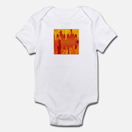 Chinese Fire Rooster Infant Bodysuit