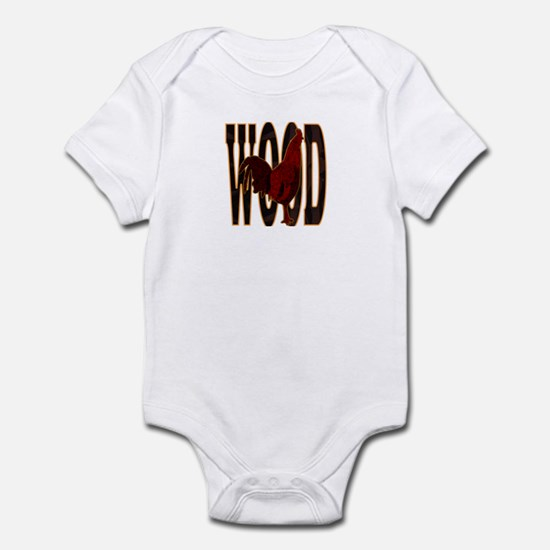 Chinese Wood Rooster Infant Bodysuit