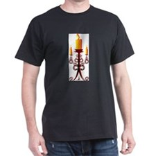 candles in chandelier T-Shirt
