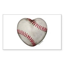 Baseball Love Rectangle Sticker 10 pk)