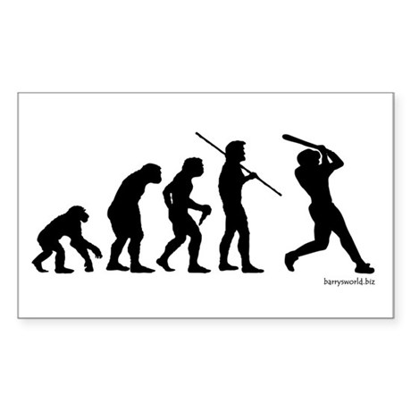 Baseball Evolution Rectangle Sticker 10 pk)